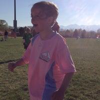 Photo taken at Lone Peak Park Soccer Fields by Joel S. on 4/7/2014