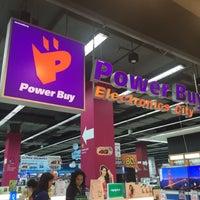 Photo taken at Power Buy by Thepraksa C. on 8/19/2016