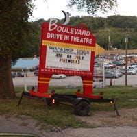 Photo taken at Boulevard Drive-In Theatre by Amber C. on 6/30/2013