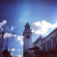 Photo taken at Kievsky Rail Terminal by Кирилл К. on 4/22/2013