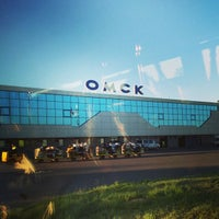 Photo taken at Omsk Central International Airport (OMS) by Кирилл Е. on 6/24/2013