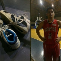 Photo taken at Xavier School Wooden Court by Sheila O. on 10/13/2012