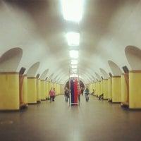 Photo taken at metro Rizhskaya by Knysh V. on 10/1/2012