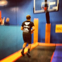 Photo taken at Sky Zone Indoor Trampoline Park by Norman T. on 3/10/2013