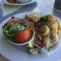 Photo taken at Aristos Waterfront Rottnest Fish Cafe by Mark Coolj on 3/5/2017