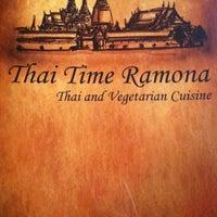 Photo taken at Thai Time Ramona by Lori on 7/1/2013