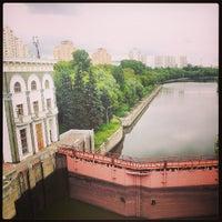Photo taken at Шлюз № 9 канала имени Москвы by Alexey I. on 7/28/2013