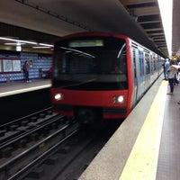 Photo taken at Metro Colégio Militar / Luz [AZ] by Eddie Pipocas on 10/16/2012