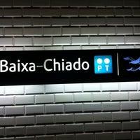 Photo taken at Metro Baixa-Chiado [AZ,VD] by Eddie Pipocas on 9/27/2012