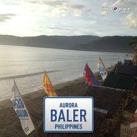 Photo taken at Baler Beach by Mac on 6/7/2013