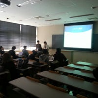 Photo taken at 岩手県立大学 ソフトウェア情報学部A棟 by n0bisuke on 1/23/2014