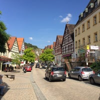 Photo taken at Pottenstein by Pavel V. on 8/8/2017