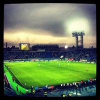 Photo taken at Стадион «Петровский» by artur a. on 5/19/2013