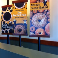 Photo taken at Einstein Bros Bagels by Laura D. on 1/19/2013