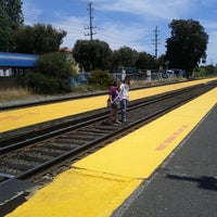 Photo taken at Broadway Caltrain Station by Angela O. on 6/9/2013