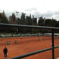 Photo taken at Filothei Tennis Club by Vassilis B. on 3/18/2013