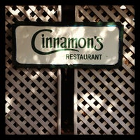 Photo taken at Cinnamon's Restaurant by Mayumi I. on 11/3/2012