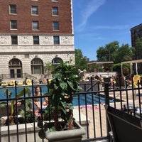 Photo taken at The Chase Park Plaza pool by Michael N. on 5/14/2017