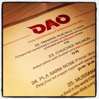 Photo taken at Dao Thai Restaurant by Bill H. on 10/19/2012