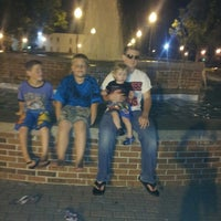 Photo taken at The Courtyard and Fountain by Tina M. on 8/20/2013