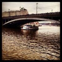 Photo taken at Bolshoy Kamenny Bridge by Katja on 4/27/2013