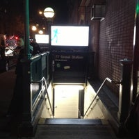 Photo taken at MTA Subway - 77th St (6) by Daniel on 11/30/2012