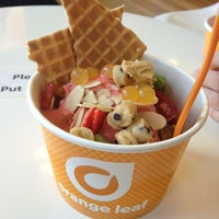 Photo taken at Orange Leaf Frozen Yogurt by Emily S. on 7/14/2013