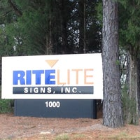 Photo taken at Rite lite Signs, Inc by Brian E. on 1/30/2013