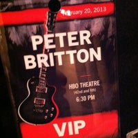 Photo taken at HBO Theater by Mike R. on 2/20/2013