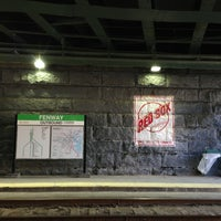 Photo taken at MBTA Fenway Station by Totsaporn I. on 3/24/2013