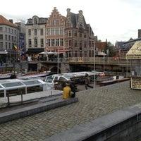 Photo taken at Restaurant De Graslei by Grethe on 9/28/2012