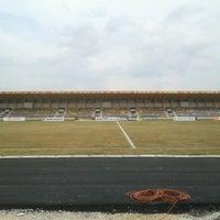 Photo taken at Stadion Kaharudin Nasution by Prajna M. on 1/12/2013