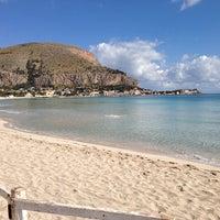 Photo taken at Spiaggia di Mondello by Salvatore B. on 6/1/2013