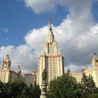 Photo taken at Lomonosov Moscow State University (MSU) by Alena P. on 7/26/2013