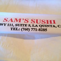 Photo taken at Sam's Sushi by Mark on 12/15/2012