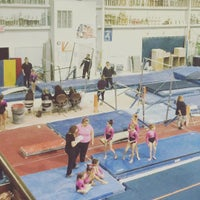 Photo taken at Gymquarters Gymnastics Center by Brian F. on 4/2/2016