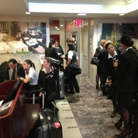 Photo taken at Club Quarters Hotel, opp Rockefeller Center by Bryan H. on 4/9/2013