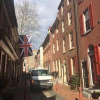 Photo taken at Elfreth's Alley by Peter G. on 3/30/2017
