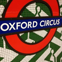 Photo taken at Oxford Circus London Underground Station by Joel H. on 4/10/2013