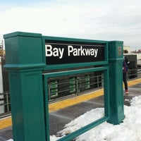 Photo taken at MTA Subway - Bay Parkway (D) by ♥Curtis R. on 2/11/2017