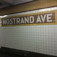 Photo taken at MTA Subway - Nostrand Ave (A/C) by ♥Curtis R. on 2/17/2017