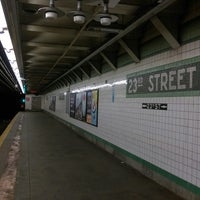 Photo taken at MTA Subway - 23rd St (F/M) by ♥Curtis R. on 7/7/2017
