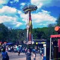 Photo taken at Городской парк культуры и отдыха им. М. Горького by Adanit on 5/9/2013
