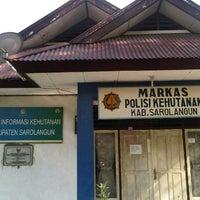 Photo taken at Maskas Polisi Kehutanan Sarolangun by Dedy K. on 3/23/2013