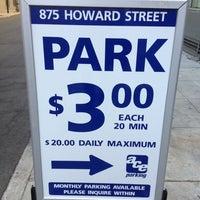 Photo taken at 875 Howard Parking by Holger L. on 10/18/2012