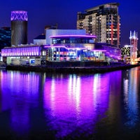 Photo taken at Salford Quays by Salim on 2/18/2013