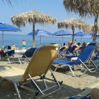 Photo taken at Χρυση Ακτη beach bar by kostas N. on 8/15/2013