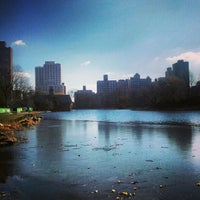 Photo taken at Harlem Meer by Megan D. on 1/7/2013