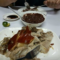 Photo taken at Dimple's Lechon and Barbecue Haus by Gue on 2/19/2017