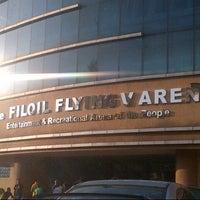 Photo taken at Fil-Oil Flying V Arena by Justin I. on 10/15/2012